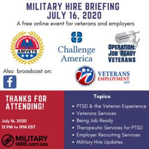 MilitaryHire July 2020 Briefing