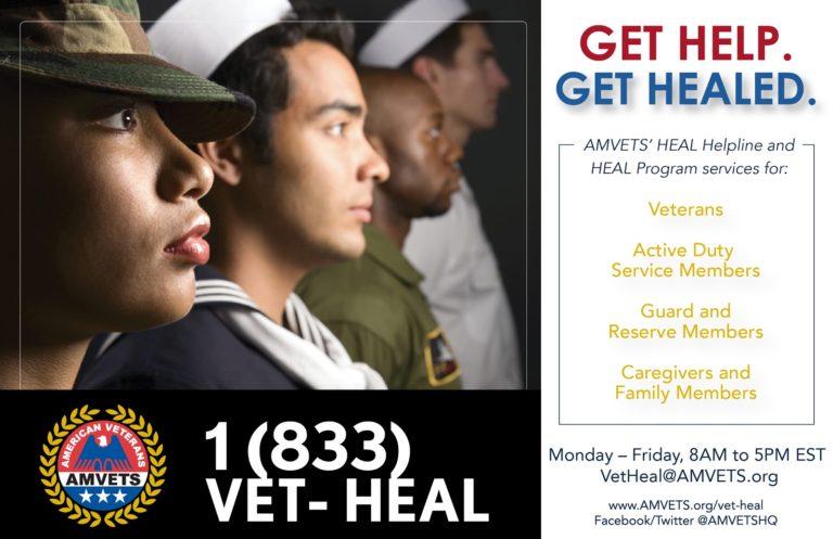 AMVETS' HEAL Helpline and HEAL Program services