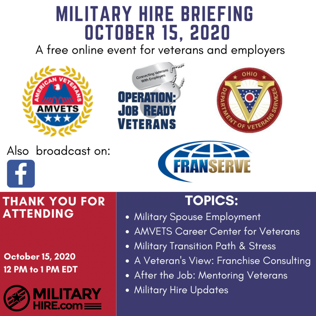 Military Hire Oct 15th 2020 Briefing