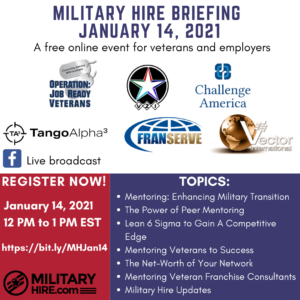 Military Hire January 14 2021 Briefing Webinar