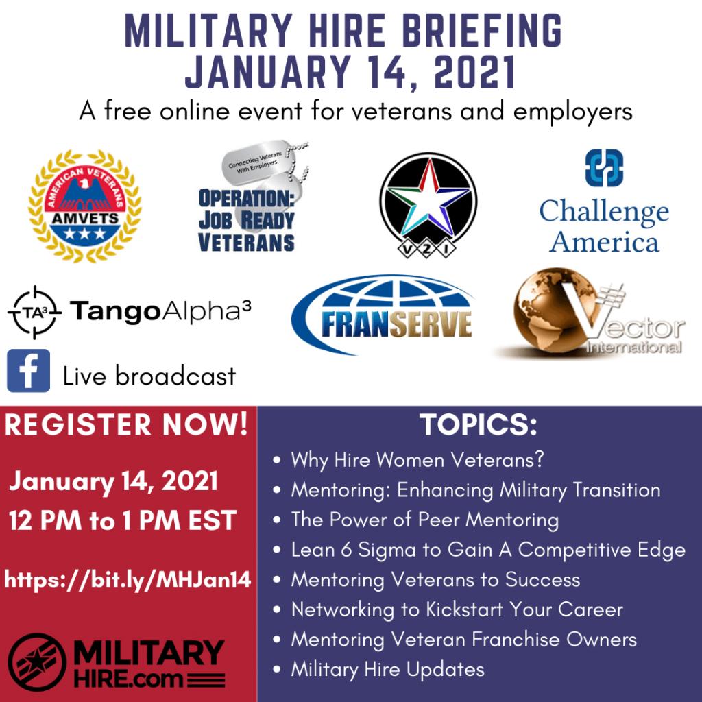Military Hire Briefing Jan 14, 2021