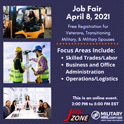Military Hire Job Fair April 8, 2021