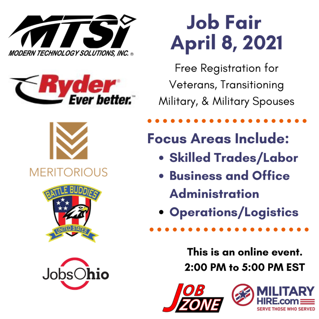 Military Hire April 8, 2021 Job Fair