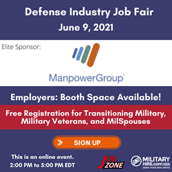 June 9 Job Fair. Manpower Group Sponsor