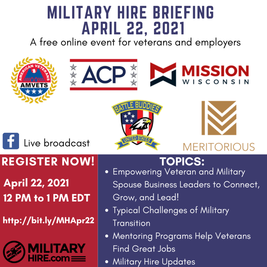 Military Hire April 22, 2021 Briefing