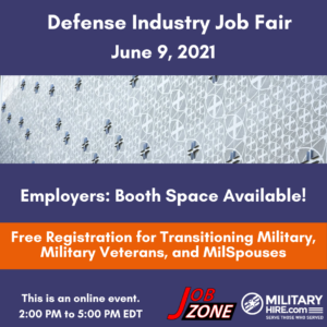 Military Hire Defense Industry Job Fair June 9, 2021