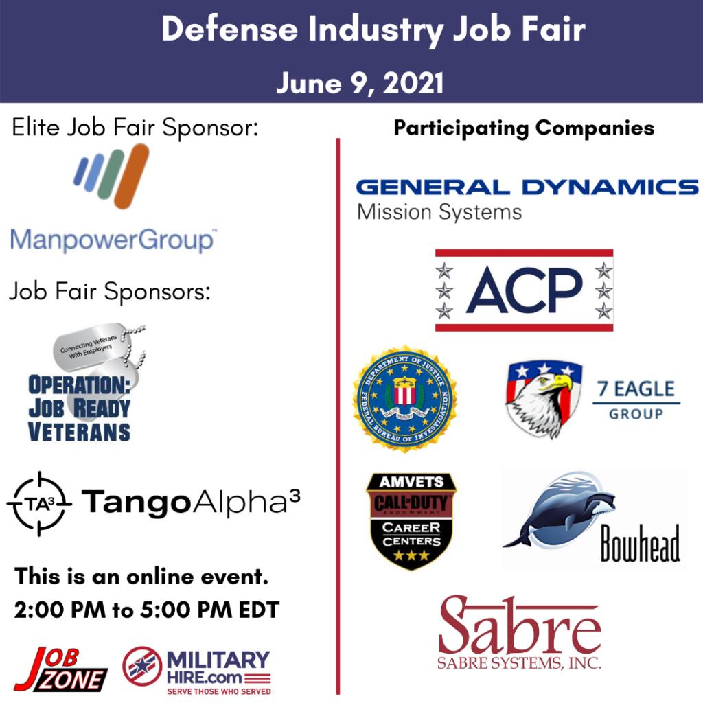 MilitaryHire June 9 2021 Job Fair